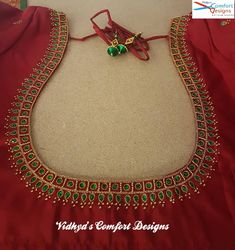 Login - Bridal Blouse Designs done at Vidhya's Comfort Designs, Besant Nagar, Chennai Contact – 900302 - Cutwork Blouse Designs, Pattu Saree Blouse Designs, Embroidery Neck Designs, Simple Blouse Designs, Stylish Blouse Design, Bridal Blouse Designs, Embroidery Stitches, Sari Blouse, Blouse Patterns