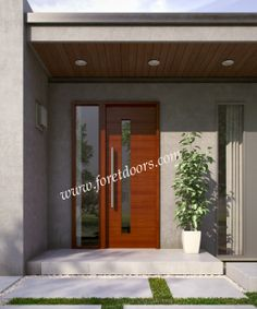Contemporary front entry doors by Foret Doors www.foretdoors.com/modern-doors.html
