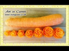 Art In Carrot Show - Vegetable Carving Carrot Roses - Carrot Flowers Garnish - YouTube - TUTORIAL