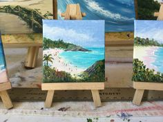 "Horseshoe Bay mini, 3x3"" acrylic"