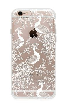 We love the way this illustrated clear case looks like a wearable painting for your phone. Details: Polycarbonate. iPhone 6 or 6 Plus. Rifle Paper Co. is a stationery and lifestyle brand founded and o