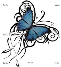 Blue Butterfly Tattoo On Shoulder Back - Tattoes Idea 2015 / 2016