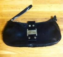 small black vinyl purse $15.00