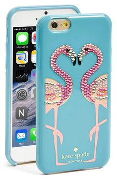 kate+spade+new+york+'jeweled+flamingo'+iPhone+6+case+available+at+#Nordstrom