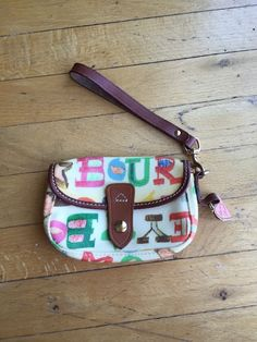 Dooney & Bourke Wristlet New Without Tags Cute Crayon Style  | eBay