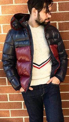 Cool Jackets, Winter Jackets, Pvc Raincoat, Black Down, Puffy Jacket, A Good Man, Beautiful Men, Overalls, Mens Fashion