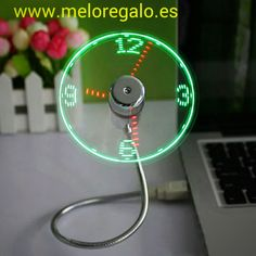 USB Power LED Clock Flexible Gooseneck Mini Fan Gadget Home Office PC Notebook. The LED Clock Fan is powered via a standard USB connector. LED analogue clock face displays on spinning fan blades. Office Gadgets, Usb Gadgets, Gadgets And Gizmos, Cool Gadgets, Electronics Gadgets, Usb Ventilator, Gadget Watches, Flexible Led Light, Real Time Clock