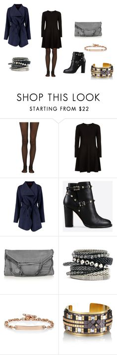 """""""Bez naslova #693"""" by meggy199 ❤ liked on Polyvore featuring Fogal, DKNY, Valentino, STELLA McCARTNEY, H&M, Hoorsenbuhs and HIRSCHELL"""