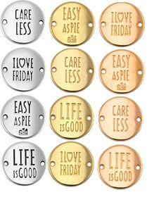 Neue Zwischenstücke für Makramee-Armbänder bei www.perlensucht.at Life Care, Personalized Items, My Love, Easy, Pearls, World