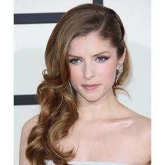 Medium Brunette (Ash) TheHairStyler.com ❤ liked on Polyvore featuring hair, anna kendrick, coiffure, hair and wig and people