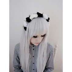 Let's Talk Pastel Goth ❤ liked on Polyvore featuring accessories, hair accessories, hair, pictures, people, backgrounds, girls and gothic hair accessories