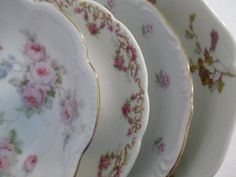 Vintage Mismatched China Dessert / Fruit Bowls  by LBFCollections