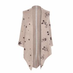 German brand CODELLO has the cutest and coziest Mickey Mouse shawl poncho to add to your fall wardrobe.