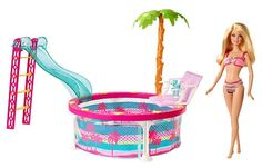 Barbie can splash and relax in the pool with her friends! #BarbiesFavorites