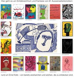 Welcome to a collection of outsider art Outsider Art, Emo, Web Gallery, Art Brut, Delphine, The Outsiders, Presents, Creative, Artist