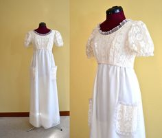 1960s Vintage Emma Domb Chiffon and Lace by TabbysVintageShop, $150.00