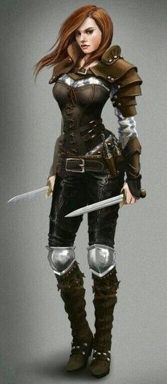 f Rogue Assassin Med Armor Duel Daggers midlvl urban city