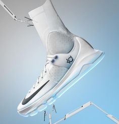 Nike has announced the KD8, Kevin Durant's 8th signature shoe, and this one appears to be a technical doozy. In a boundary-pushing move, designer Leo Chang (Nike's Basketball Footwear Design Director) and team opted for a low-top form, at least visually; but stretching upwards, past the upper, is a sort