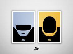 Daft Punk Minimal  by sebastian melchor hedman
