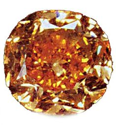 Pumpkin Diamond 0 5.54 ct., purchased by Harry Winston and worn by Halle Berry for the 2002 Academy Awards.  After cutting it displayed a saturated orange hue. Orange diamonds are not as rare as the red or green diamonds. Most of the orange diamonds have strong yellow or brown modifiers. Common Names: Amber, Autumn, Peach, Burnt orange, Cognac etc.