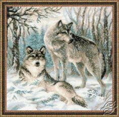 Pair of the Wolf - Cross Stitch Kits by RIOLIS - 1393