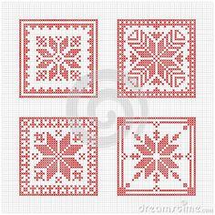 Scandinavian style cross stitch pattern