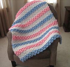 Crocodile Rock Crochet Baby Blanket | AllFreeCrochetAfghanPatterns.com