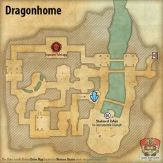​​Western Skyrim Map for ESO Greymoor Chapter - The Elder Scrolls Online | game-maps.com