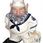 U.S. Navy Sailor Gnome