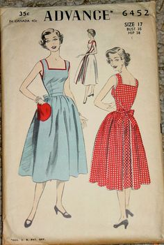 Advance 6452: yet another version of the walkaway apron dress