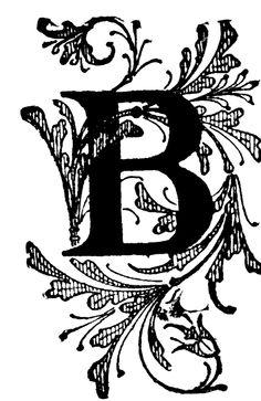 Decorative Letters B 13