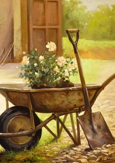 Wheelbarrow Of Roses