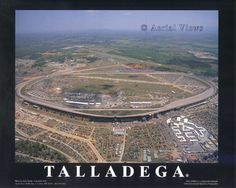 Talladega...largest track and one very long backstretch.  I know, because I walked across it heading toward the pits.
