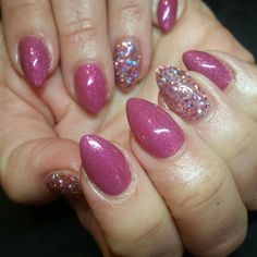 Love New Romantic . Paired here with our chunky Caberet Chic glitter gel