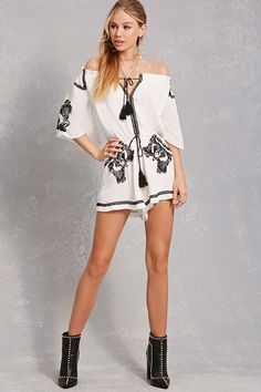 Product Name:Selfie Leslie Embroidered Romper, Category:dress, Price:58