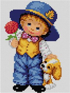 This Pin was discovered by Emi Beaded Cross Stitch, Cross Stitch Rose, Cross Stitch Baby, Modern Cross Stitch, Cross Stitch Charts, Cross Stitch Embroidery, Baby Cross Stitch Patterns, Cross Stitch Designs, Cross Stitch Silhouette