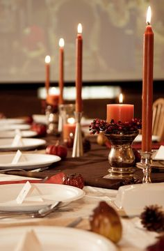 decorations ideas - Elegant Autumn Tablescape #ThanksGiving #Home #Decor ༺༺  ❤ ℭƘ ༻༻