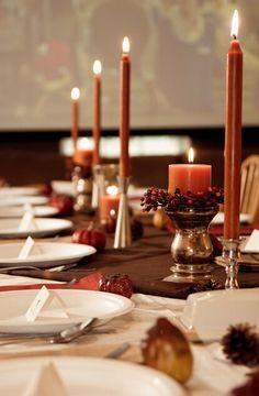 decorations ideas - Elegant Autumn Tablescape #ThanksGiving #Home #Decor ༺༺  ❤ ℭƘ ༻༻