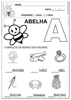 Preschool Printables, Preschool Worksheets, Preschool Activities, Portuguese Lessons, Alphabet Writing, Tracing Worksheets, Baby Sister, Childhood Education, Pre School