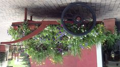 Cart with flowers in Vail, CO