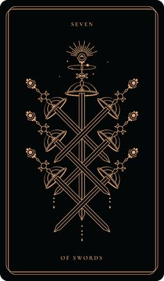 Seven Of Swords – Soul Cards Seven Of Swords, Witchy Wallpaper, Tarot Card Tattoo, Tarot Major Arcana, Psy Art, Daytona Beach, Tarot Decks, Compass Tattoo, Tarot Cards