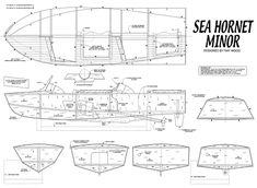 Quinze marins sur le bahut du mort...: Plan maquette coque open Sea Hornet