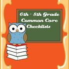 Common Core Standards ELA & Math Checklist for 6th-8th Grade