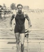 OLYMPIC SWIMMER, ACTOR, JOHNNY  WEISSMULLER