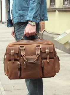 Leather Travel Bag / Overnight Bag / Weekend Bag