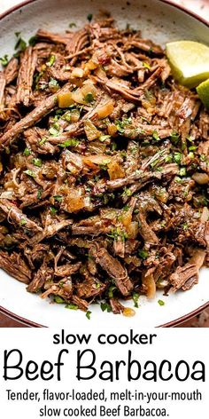 Crock Pot Cooking, Cooking Recipes, Slow Cook Beef Recipes, Cooking Tips, Shredded Beef Recipes, Cooking Beef, How To Cook Beef, Freezer Recipes, Freezer Cooking