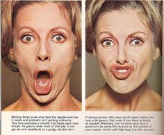 """facial exercises - one pinner says """"Ive done the face workouts for 3wks now and amazingly its working! Hubby asked if i have been using new lifting cream. Tighter face for sure!!"""""""