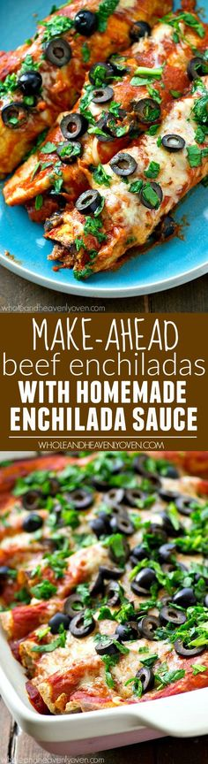 Honestly the BEST beef enchiladas you will ever have in your life! The secret to making them so good is in the homemade enchilada sauce.---plus they can be made ahead!: