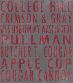 Washington State University Cougars art board