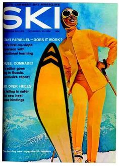 Old Ski magazine...how skis and goggles have changed.